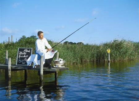 Angler und Koch